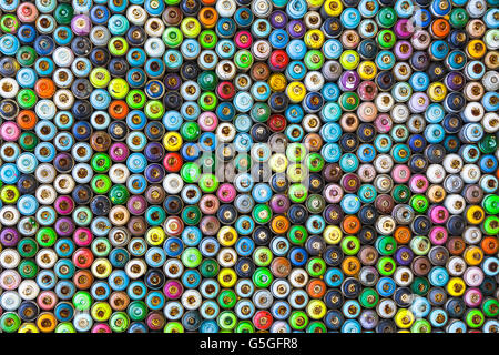Spray paints pattern in the door, Cyprus - Stock Photo