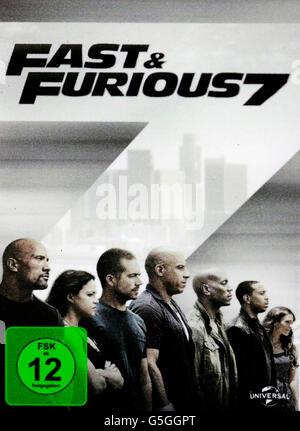 Filmplakat zum Spielfilm 'Fast and Furious 7', Berlin. - Stock Photo