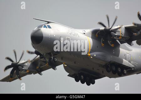 An A400M performing at the Royal International Air Tattoo in 2015 - Stock Photo