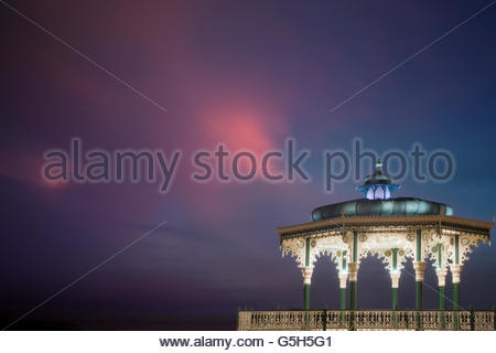 Bandstand, Brighton in late evening light. - Stock Photo
