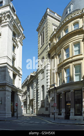 St Clement Eastcheap, church in the City of London. The tower - Stock Photo