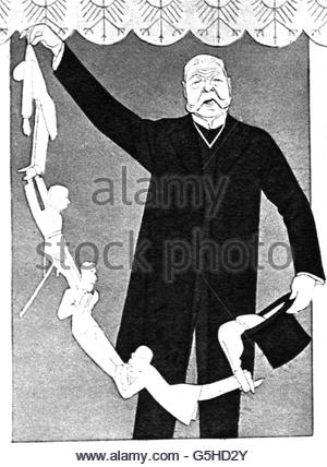 geography / travel, Germany, politics, caricature, 'German Magical Woks Ltd. - No need to give up hope as long as - Stock Photo