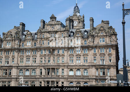 Balmoral Hotel; Edinburgh; Scotland, UK - Stock Photo
