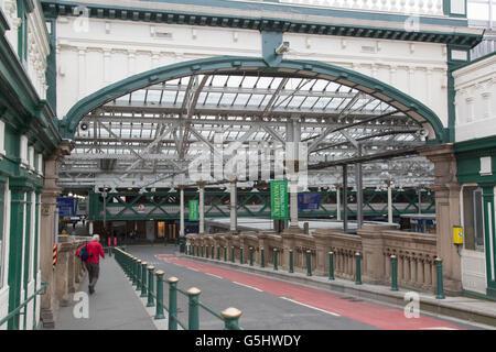 Waverley Railway Station; Edinburgh; Scotland, UK - Stock Photo