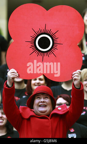 Susan Boyle at launch of Poppyscotland - Stock Photo