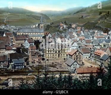 Von Triberg kann man einen lohnenden Ausflug nach Furtwangen machen, einer freundlichen Stadt am Bregbach. Hier - Stock Photo