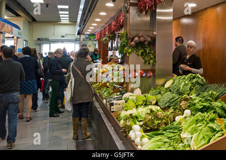 Horizontal interior view of Mercat de L'Olivar in Palma, Majorca. - Stock Photo