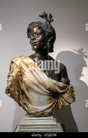 'La Capresse des Colonies' Sculpture in the Metropolitan Museum of Art, NYC, USA - Stock Photo