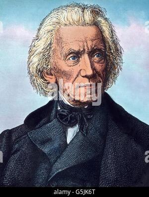 Adrian Ludwig Richter (1803 - 1884),  bedeutender Maler und Zeichner der Spätromantik und des Biedermeier. - Stock Photo