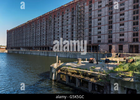 Liverpool Merseyside North West England The Stanley dock former tobacco warehouse. Used in many TV films as a location. - Stock Photo