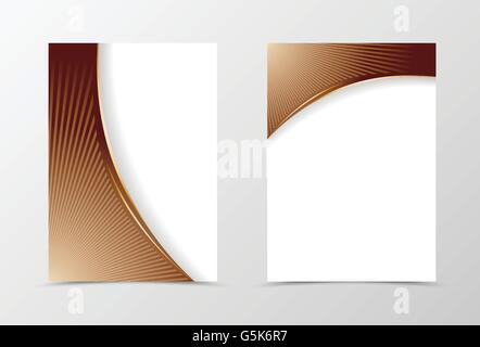 Flyer template design - Stock Photo