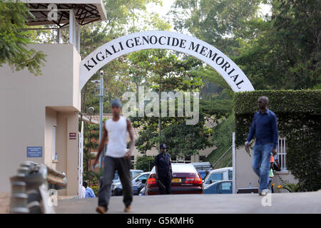 Entrance to the Kigali Memorial Centre, genocide museum of Kigali, Rwanda, Africa - Stock Photo