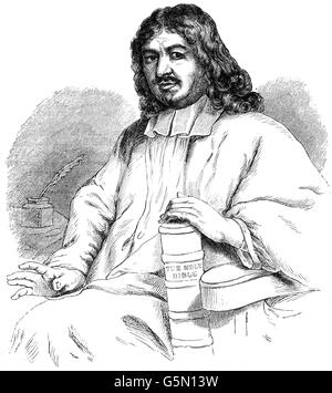 John Bunyan (1629 - 1688) was an English writer and Baptist preacher.  After the restoration of the monarch, when - Stock Photo