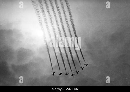 Disasters and Accidents - Four Red Arrows Pilots Die - Stock Photo