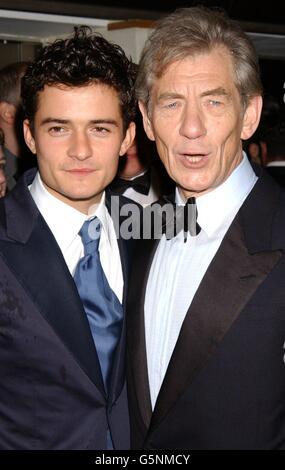 ORANGE BAFTAs Bloom and McKellen - Stock Photo