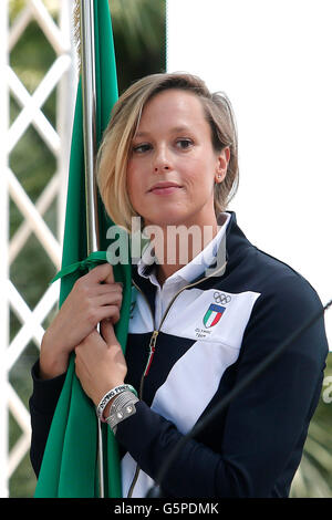 Federica Pellegrini Rome 22nd June 2016. Quirinal. The President meets the italian athletes of the Rio 2016 Olympic - Stock Photo
