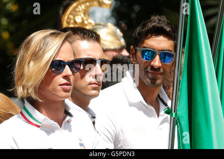 Federica Pellegrini and Filippo Magnini Rome 22nd June 2016. Quirinal. The President meets the italian athletes - Stock Photo