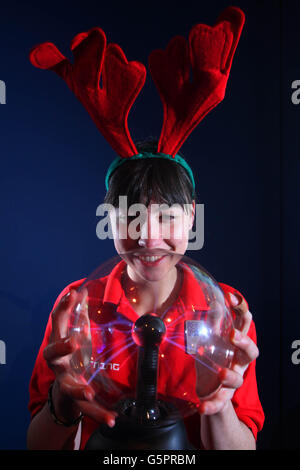 Festive Physics Christmas Show - Stock Photo
