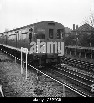 Transport - London Underground - London Transport Test Drive Automatic Train - Stock Photo