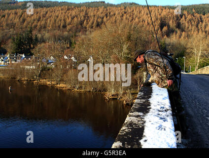 Salmon fishing season - Stock Photo