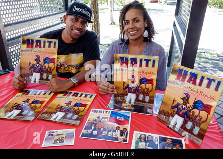 Florida, South, Miami, Little Haiti, Cultural Center, center, Haitian-Caribbean Book Fair, annual event, author, exhibitor, stall, stalls, booth, boot