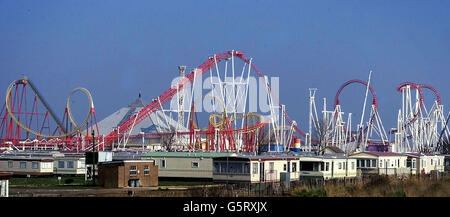 The World's longest Rollercoaster - Stock Photo