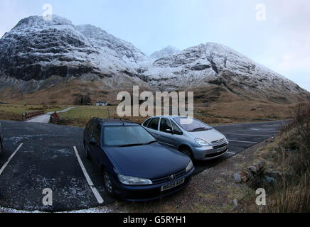 Glencoe avalanche deaths - Stock Photo