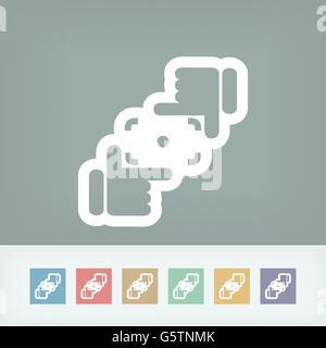 Camera lens simulation icon - Stock Photo