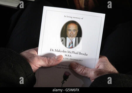 Malcolm Brodie funeral - Stock Photo