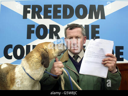 Scottish Countryside Alliance Petition - Stock Photo