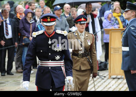Lord Lieutenant of Hampshire in Uniform - Stock Photo