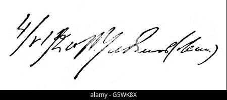 Lenin (Vladimir Ilyich Ulyanov), 22.4.1870 - 21.1.1924, Russian politician, signature, - Stock Photo