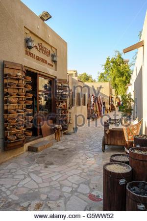 Souvenirs shop in The Bastakia quarter, or Bastakiya, is an area of Dubai on the Bur Dubai - Stock Photo