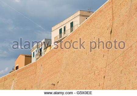 Termoli old town, Molise region, Italy - Stock Photo