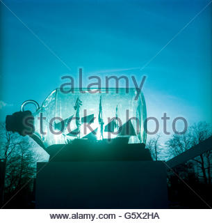 Ship in a bottle - Stock Photo