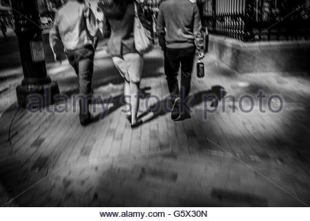 People walking in the city. - Stock Photo