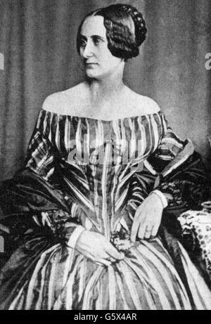 Storm, Constanze, 5.5.1825 - 24.5.1865, wife of Theodor Storm, half length, after photograph, circa 1860, - Stock Photo