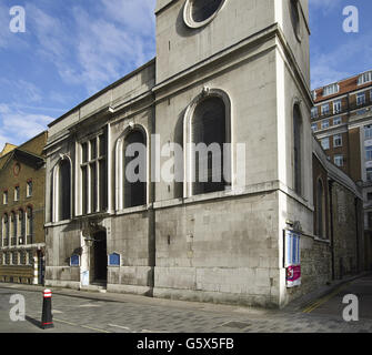 St Vedast Alias Foster, church in the City of London; west wall - Stock Photo
