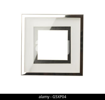 Luxury empty picture frame isolated on white background - Stock Photo