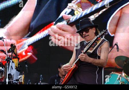 Carlos Santana on stage - Stock Photo
