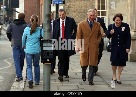 Prince Charles visit to Cambridge University - Stock Photo