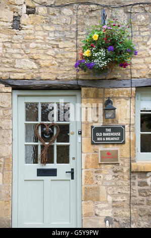 The old bakehouse B & B in Chipping Campden, Gloucestershire, England - Stock Photo