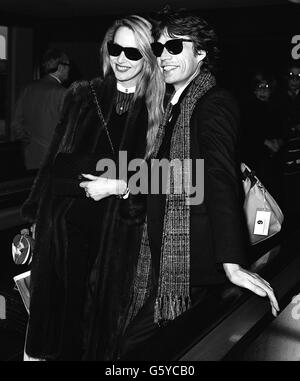 Mick Jagger and Jerry Hall - Stock Photo
