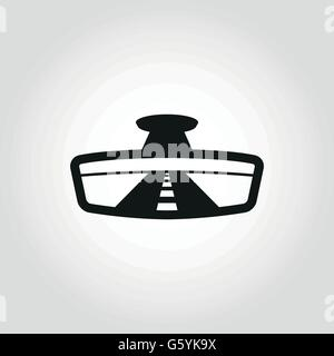 Vector black rear view icon - Stock Photo