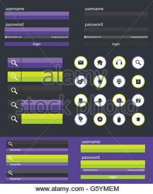 Flat Web Design elements illustration - Stock Photo