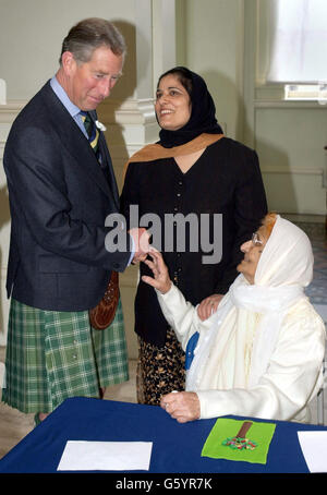Prince Charles - Paradise Garden Carpets - Stock Photo