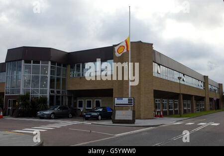 Shell's Headquarters  -  Helicopter Crash - Stock Photo
