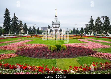 Russia, Moscow, the main pavilion of the Vdnkh Sovier Fair - Stock Photo