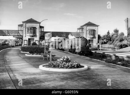 The Caledonian Railway's Gleneagles station was the alighting point for the luxurious Railway Hotel. - Stock Photo