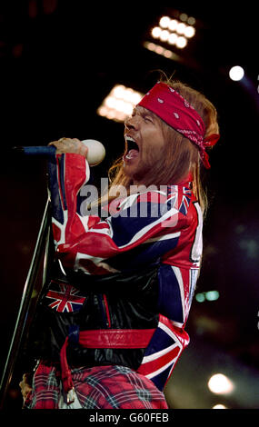 Freddie Mercury Tribute Concert - Axl Rose - Wembley - Stock Photo